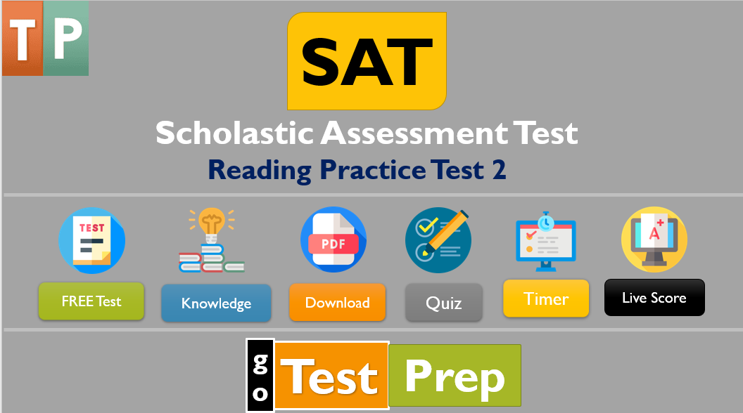 SAT Reading Practice Test 2 (PDF) Printable Worksheet