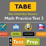 Free TABE Math Practice Test 2 (Question Answers Online Quiz)