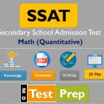 SSAT Math (Quantitative) Practice Test 2021 Sample Test
