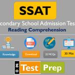 SSAT Reading Comprehension Practice Test 2021 (Printable PDF)