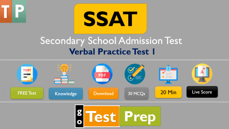 SSAT Verbal Practice Test 2021 ( Upper Level and Middle-Level)