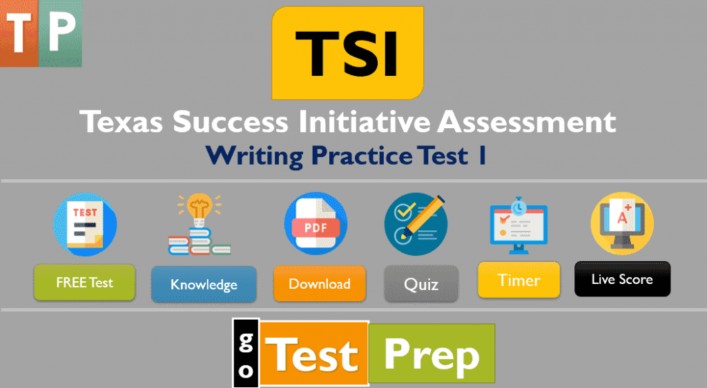 TSI Writing Practice Test 2021 (Sample Questions Answers)