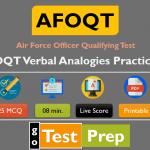 AFOQT Verbal Analogies Practice Test (Printable Worksheet PDF)