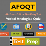 AFOQT Verbal Analogies Quiz (Sample Question Answer)