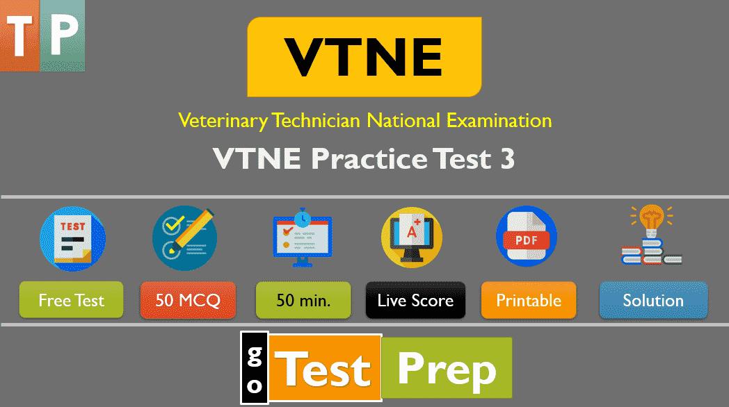 VTNE Practice Test 3 (MCQ Question Answer)